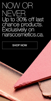 MAINTENANT OU JAMAIS. Jusqu'à30% de rabais. Dernière chance. Exclusivement sur le site narscosmetics.ca. MAGASINER